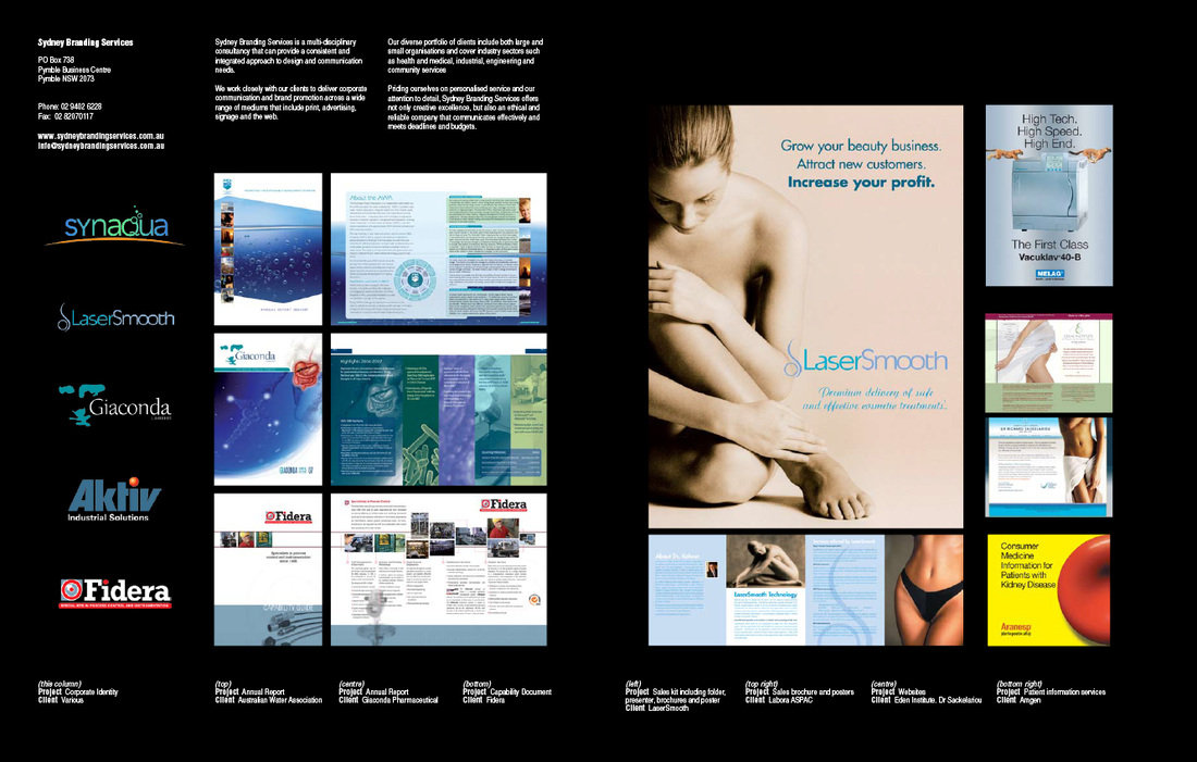 Sydney Branding design work featured in Oz Graphix 6
